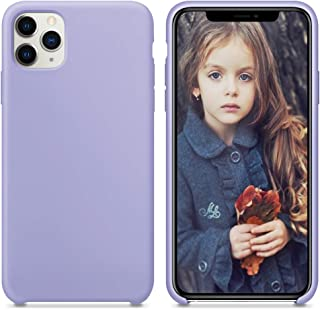 GKK CASE - for iPhone 11 /iPhone 11 Pro/iPhone 11 Pro Max Case- Liquid Silicone Cover + Soft Flannel Lining + Comfortable Touch (Lilac Purple, 6.5)