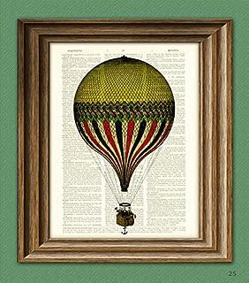 striped hot air balloon