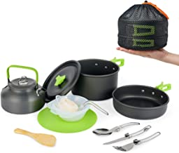 MEETSUN Camping Cookware Portable Outside Camping Cooking...