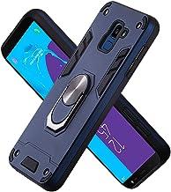 FAWUMAN Funda para Samsung Galaxy J6 (2018) Soft TPU + Duro PC Doble Parachoques Cubierta a Anillo Soporte con Soporte y Carcasa Desmontable, Funda Protectora Serie Armadura (Azul Real)