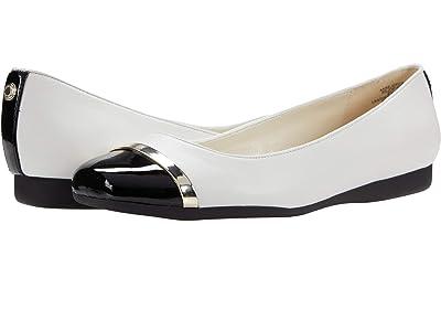 Anne Klein Rejoyce Flat (White) Women