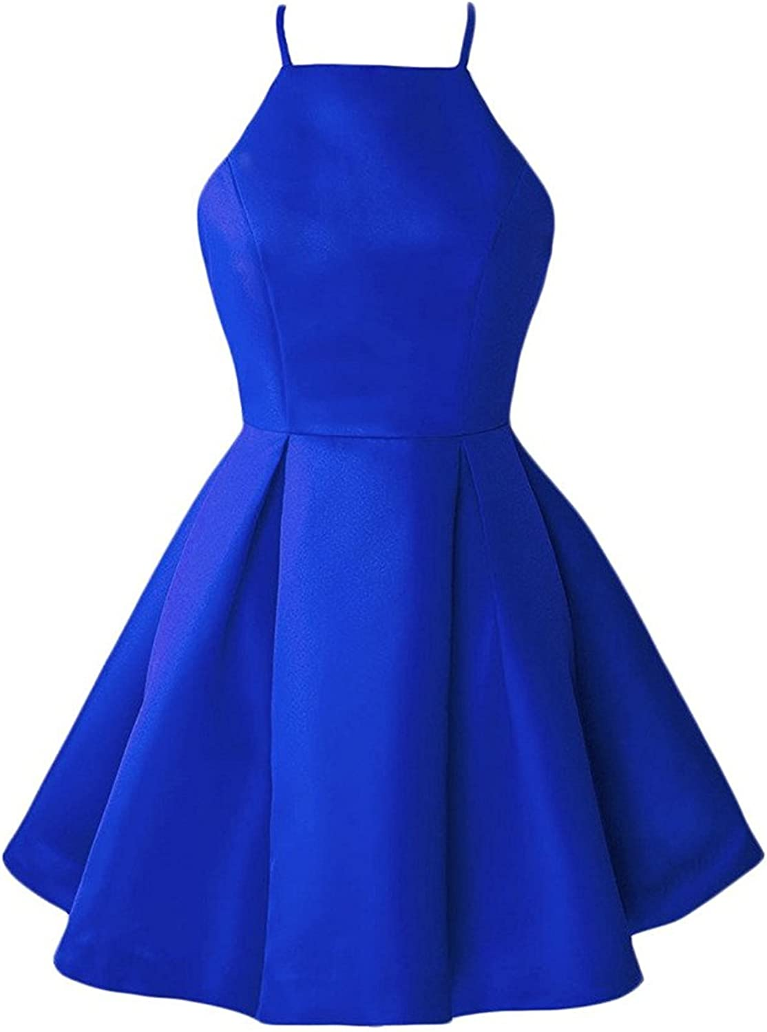 20KyleBird Women's Halter Satin Homecoming Dresses Short Cocktail Party Gowns KB006