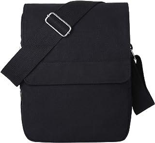 82367a6c6a Eshow Petit Sac Bandoulière Homme Sac à l'épaule Sacoche Noir pour Loisir  Ecole