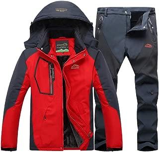 Phlpsee Ski Jacket Suits Waterproof Fleece Snow Jacket Thermal Coat Outdoor Mountain Skiing Snowboard Jacket Suits