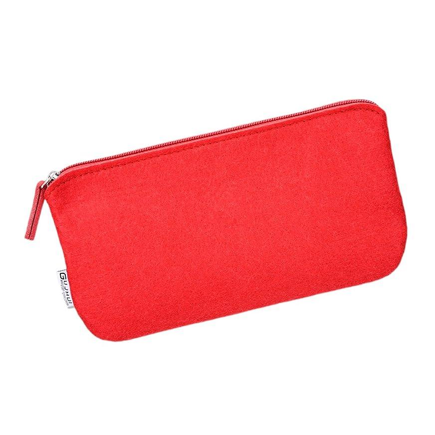 科学者オゾン放射能Perfk ポータブル 化粧バッグ 旅行 トイレタリー 化粧ブラシケース 財布 お風呂/出張/旅行/海外に適用 全3色 - 赤