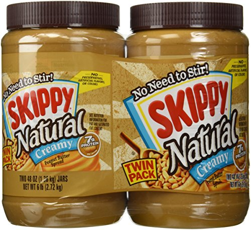 Skippy 248 Oz Natural Peanut Butter Spread Creamy 6 Lb