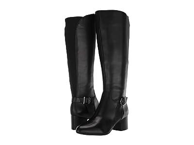 Anne Klein Honesty Wide Calf (Black Leather) Women