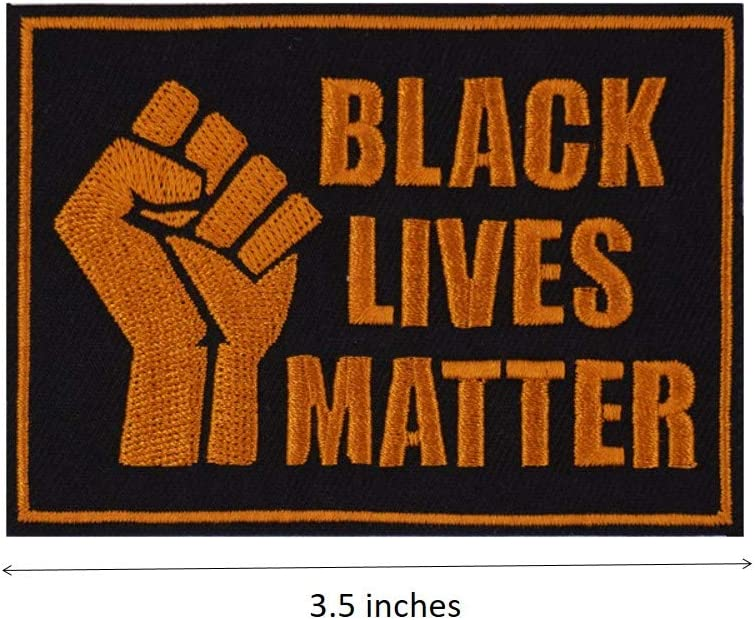 Grey Fist Up Black Power Embroidered Iron on Patch