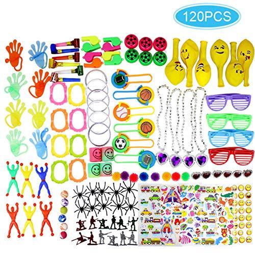 Clerfy Acc Surtido de 120 Juguetes para Rellenar piñatas y Bolsas de Regalo de Fiestas de cumpleaños Infantiles o para el Colegio