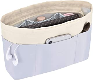 APSOONSELL バッグインバッグ 軽量 自立 ファスナー付き おしゃれ 大容量 バックインバック レディース 軽量 通勤 薄型 トート用