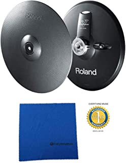 Roland VH-13-MG V-Hi-Hat (Metallic Gray) with Microfiber and Free EverythingMusic 1 Year Extended Warranty