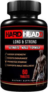 HARD HEADD Supplement for Male Wellness, Boost Your Energy, regain Your Strength, Great for Workout Power