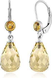 citrine briolette earrings