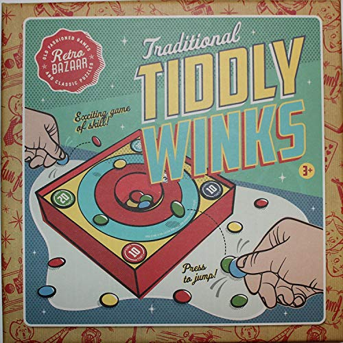 Traditional Tiddlywinks Tiddly Winks Family Game by B4H