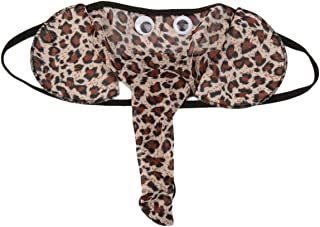 Mens Penis Pounch Underwears Super Sexy Sheer Elephant Nose G-Strings Thongs