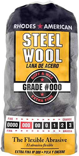 Homax - 33873210009 Steel Wool, Extra Fine Grade #000, 12 Pads