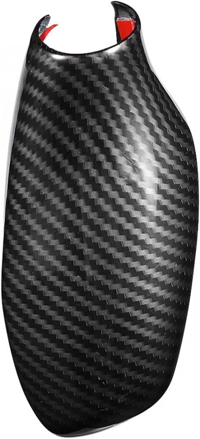 Iinger Carbon Super sale period limited Fiber Pattern ABS Gear Japan's largest assortment Shift Cover Knob Sticker Tr
