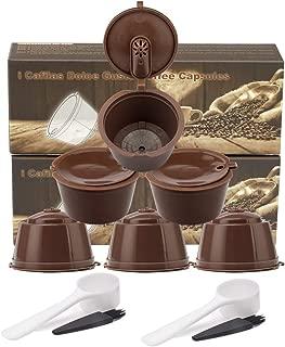 MG Coffee Refillable Dolce Gustó Coffee Capsule,Reusable Holder Pod Compatible with Mini Me, Genio, Piccolo, Esperta and Circolo (6 PCS) (Brown)