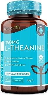 L-Teanina 350 mg - 120 cápsulas veganas - Cápsulas de L Teanina de alta potencia - Suministro p...