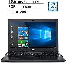 Acer 2019 Aspire E5 15.6 Inch FHD Laptop (Intel Dual Core i3-8130U up to 3.4 GHz, 6GB RAM, 256GB SSD, Intel HD Graphics 620, WiFi, Bluetooth, HDMI, DVD, Windows 10 Home)
