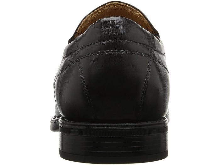 Florsheim Midtown Moc Toe Slip-on Black Smooth Loafers