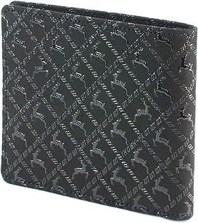 INDEN-YA 印傳屋 印伝 財布 二つ折り財布 メンズ 男性用 黒×黒 ディアー 2005-01-165