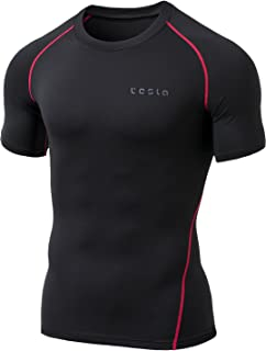 TSLA Men's Thermal Wintergear Compression Baselayer Short Sleeve Top