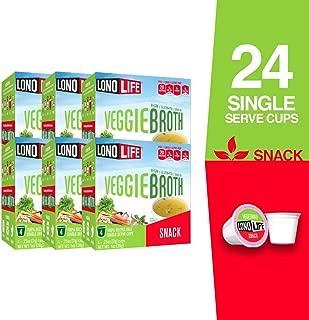 LonoLife Veggie Broth Snack, Single Serve Cups, 24 Count