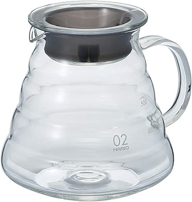 Hario V60 Clear Glass Range Coffee Server 600ml