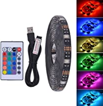 Elec tech Waterproof LED Tape 5050 DC 5V RGB LED Waterproof 30LED / M USB LED Flexible Neon Tape 1M 2M Add Remote Control for TV Background Remote Control 24 Button Light with Strip