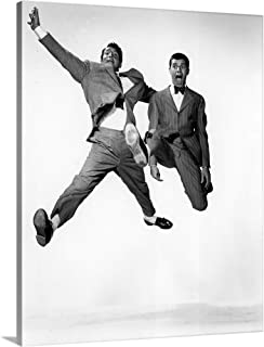 Dean Martin and Jerry Lewis in Jumping Jacks - Vintage Publicity Photo Canvas Wall Art Print, 1.