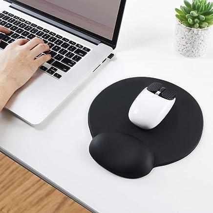 Almohadilla para el ratón de Espuma de Memoria EXCO con Soporte para la muñeca, Alivio del Dolor, para computadora portátil de Escritorio