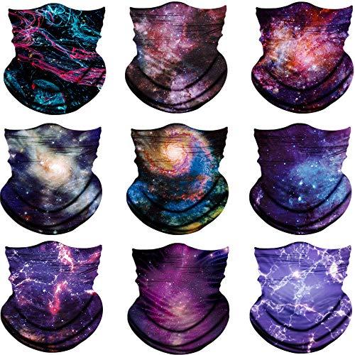 Seamless Face Scarf Head Wraps headwear Bandana Headband Balaclava Neck Gaiter Multifunction,galaxy pattern