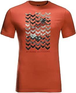 Jack Wolfskin Mens Chevron T-Shirt - Saffron Orange - XXXL