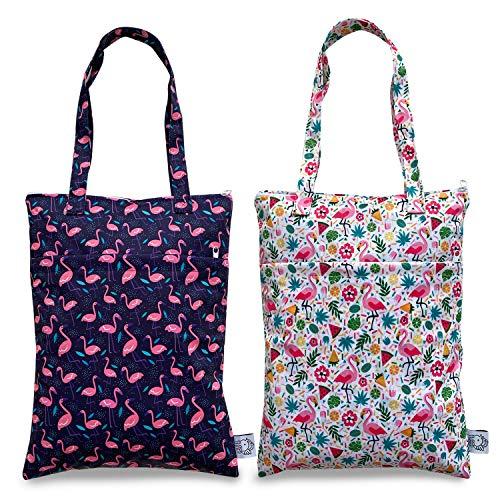 Bolsa impermeable para ropa húmeda reutilizable para bebé, pañales, bañador de viaje, reutilizable, bolsa de artículos de aseo pequeña y grande para electrónica caso,...
