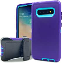 Samsung Galaxy S10e Holster Case,Kudex Defender Shockproof Heavy Duty Hybrid Hard Soft Silicone Impact Scratch Resistant R...