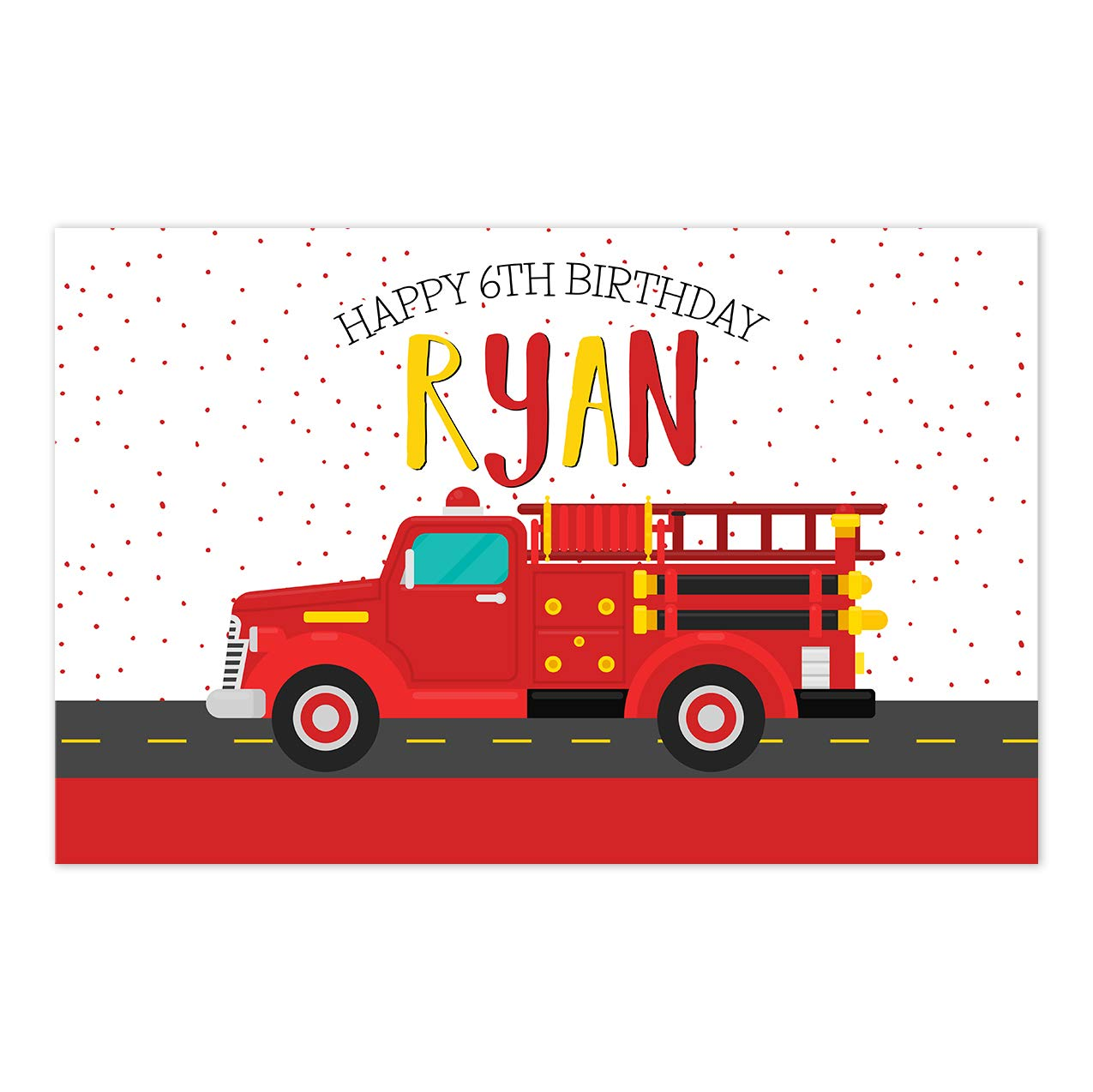 Fire Engine Birthday Memphis Mall Personalized Placemat Genuine Decoratio Party Table