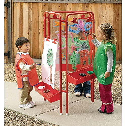 Colorations 3-Way Indoor/Outdoor Acrylic Panel Easel, Outdoor Play, Drawing, Adjustable Easel, Art Craft Painting, Arts and Crafts