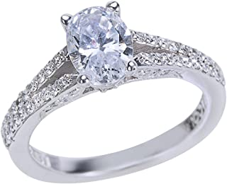 Adisaer Wedding Rings for Women Silver Ring Marquise /& Round Cut Cubic Zirconia Size 6-8