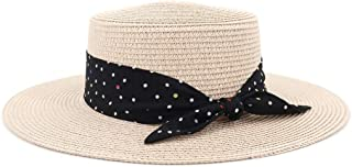 Sun Hat for men and women Women Summer Hat Beach Straw Hat Panama Ladies Cap Fashionable Handmade Casual Flat Brim Bowknot Sun Hats For Women