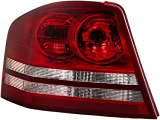 VIPMOTOZ Driver Side Red Lens OE-Style Left Tail Light Housing Lamp Assembly Replacement For 2008-2010 Dodge Avenger