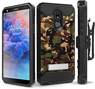 LG Stylo 5 Case, Evocel [Explorer Series Pro] Premium Full Body Case with Glass Screen Protector, Belt Clip Holster, Metal Kickstand for LG Stylo 5, Camouflage