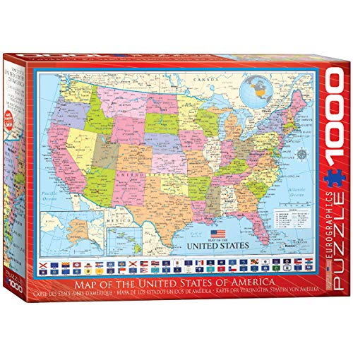 Eurographics 1000 Teile - Karte der Vereinigten Staaten