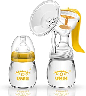 UNIH Manual Breast Pumps Baby Feeding Breastfeeding Milk Pumps Soft and Powerful Suction BPA Free with another Pacifier…