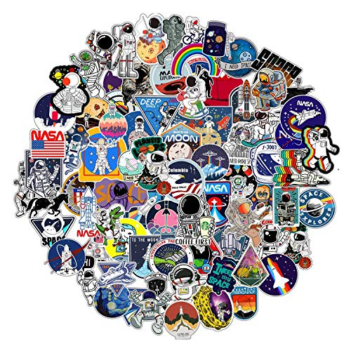 Cute Graffiti Stickers Bomb Pack [150PCS], Cool NASA Space Vinyl Sticker Decal for Adult Teens Kids, Custom DIY Decor for Skateboard Laptop Car Bumper Hydroflask Yeti Water Bottle Hard Hat Tool Box