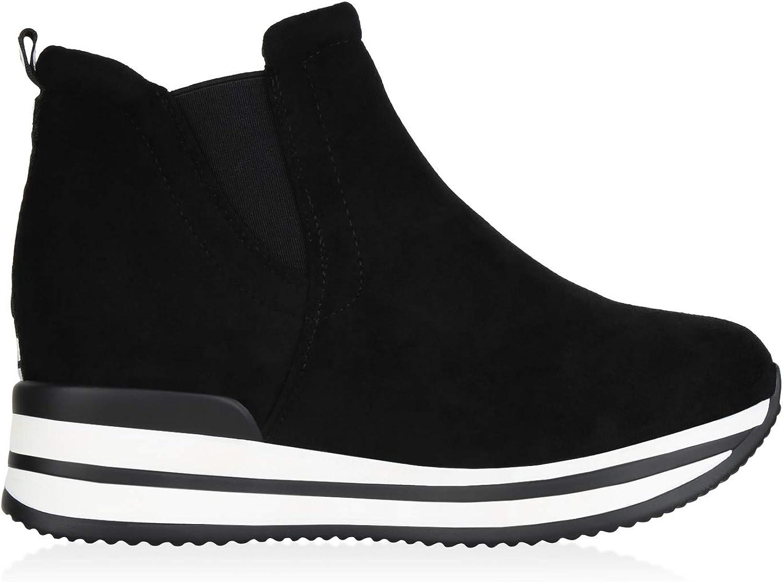 SCARPE VITA Damen Sneaker Wedges mit Keilabsatz Prints