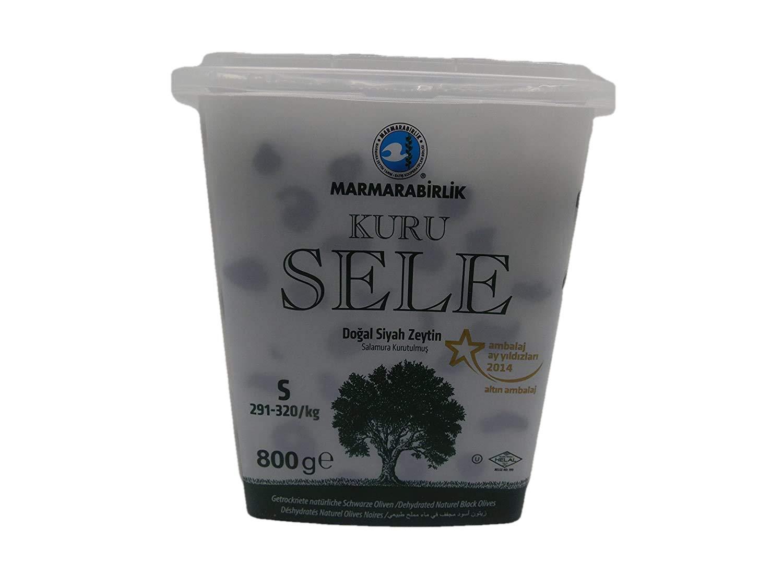Dried Sele Large Black Olives -1.76oz (Marmarabirlik İri Kuru Sele Siyah Zeytin)