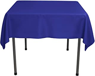 GlaiEleh Square Tablecloth - 54 x 54 Inch - Royal Blue Square Table Cloth for Square or Round Tables in Washable Polyester - Great for Buffet Table, Parties, Holiday Dinner, Wedding & More