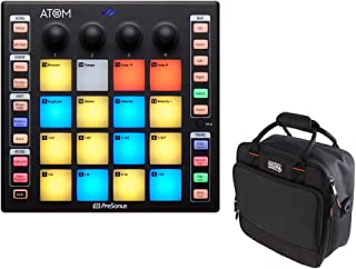 PreSonus ATOM Production and Performance Pad Controller with G-MIXERBAG-1212 Padded Nylon Mixer/Equipment Bag Bundle