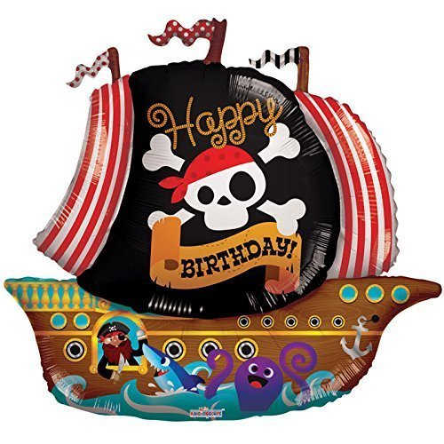 Kaleidoscop F19763-36 Folienballoon Piratenschiff Happy Birthday